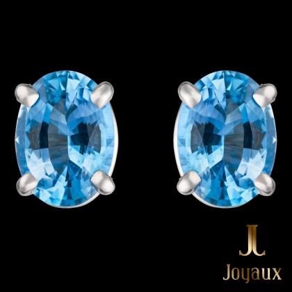 Oval Aquamarine Earrings