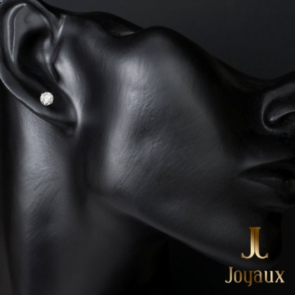 Diamond Stud Earrings in 18k White Gold (1/4 ct. tw.)