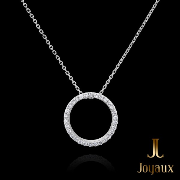 Gold Diamond Circle Pendant