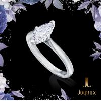 Marquise Cut Single Stone Diamond Ring 1.03ct.