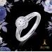 1/4 CT. Diamond Engagement Ring With Yellow Diamond Surround