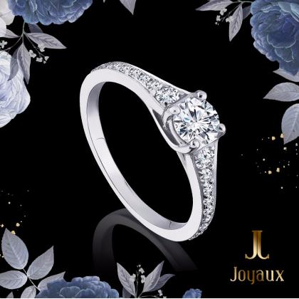 2/5 CT. Diamond Engagement Ring With Diamond Set Shoulders