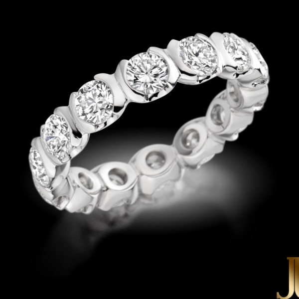 Diamond Wedding Eternity Ring 2cttw.