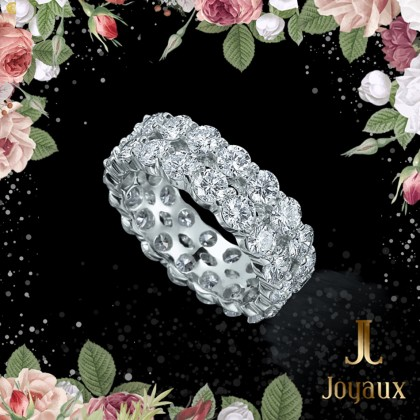 Two Wave Diamond Eternity Ring 2cttw.