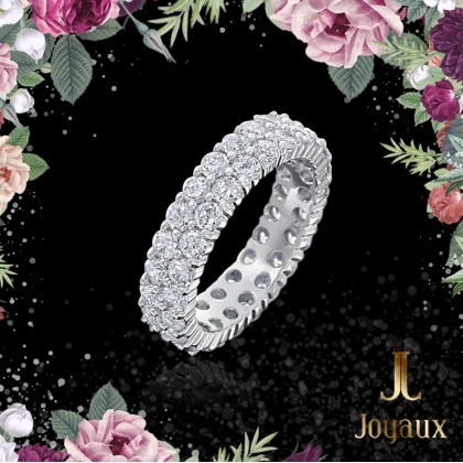 Two Wave Diamond Eternity Ring 3cttw.