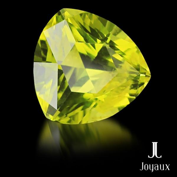 Vivid Yellowish-Green Peridot 2,59ct.
