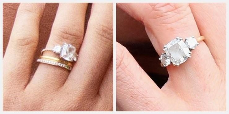 Помолвочное кольцо Меган с бриллиантами