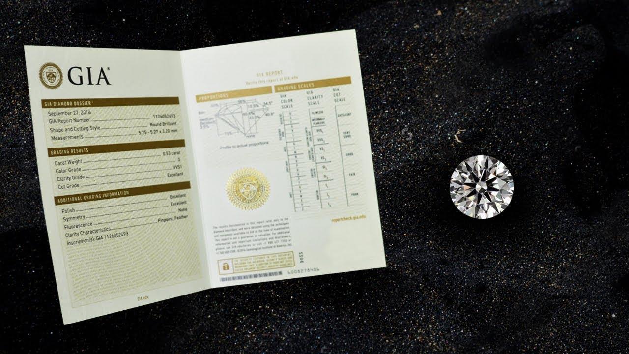 Бриллиант сертифицированный GIA