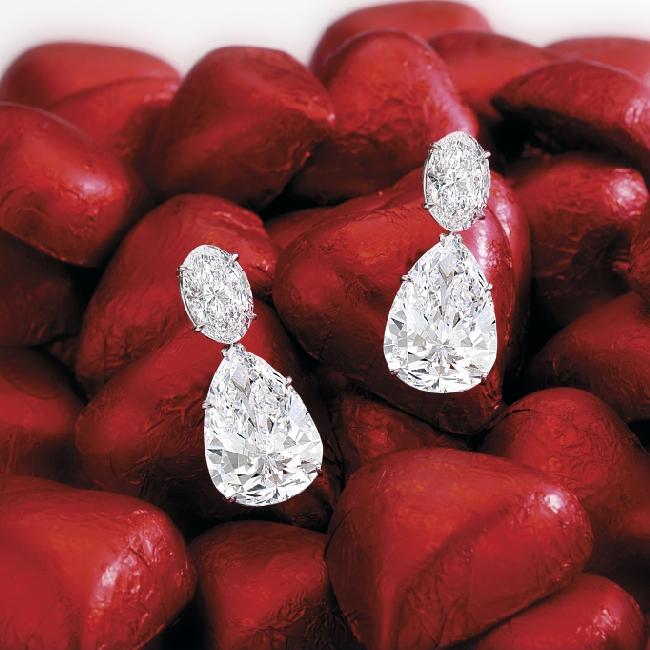Платиновые серьги с бриллиантами